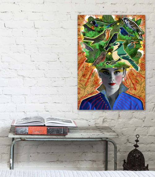 Photography by Peperina Magenta seen at 474 W Broadway, New York - Tenés la cabeza llena de pajaritos (Your head is full of birdies)