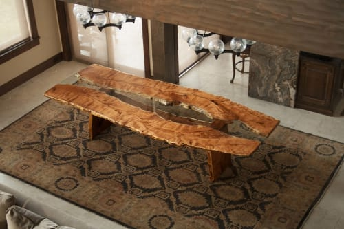 Tables by Earl Nesbitt Fine Furniture LLC seen at Private Residence, Denver - Slab Dining Table