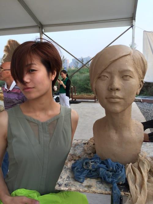 Sculptures by Cicero D'Ávila seen at Changsha, Changsha - Head Sculpture