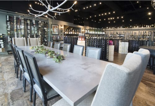 Chandeliers by CP Lighting at The Cave Bistro & Wine Bar, Naples - 40' newGROWTH Chandelier