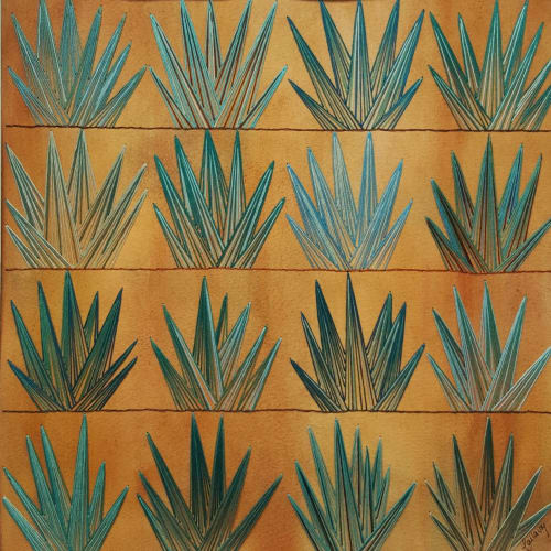 Paintings by Laila Vazquez seen at Private Residence, Mexico City - Los Agaves