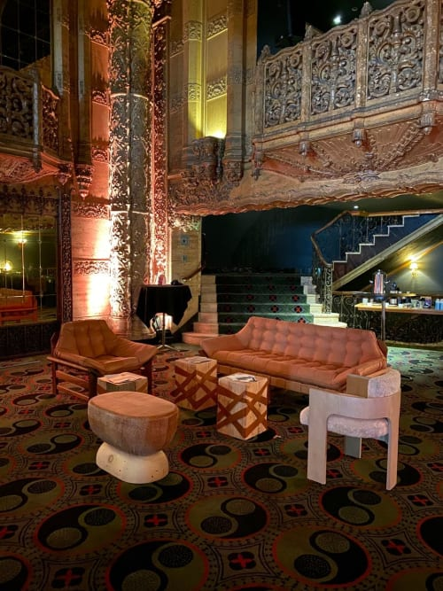 Chairs by Cuff Studio seen at Indie Congress, Ace Hotel Theater DTLA 2019, Los Angeles - U Stool