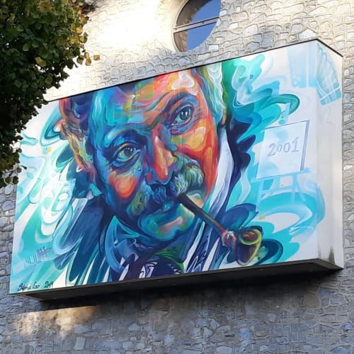Street Murals by Sema Lao seen at Rue Georges Brassens, Feytiat - Wall Mural