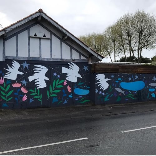 Street Murals by Alabama Creative seen at Dadasurfboard, Capbreton - Migration