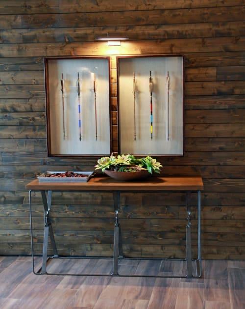 Art & Wall Decor by Organik Creative at Ascent Victory Park Apartments, Dallas - Arrow Shadow Box