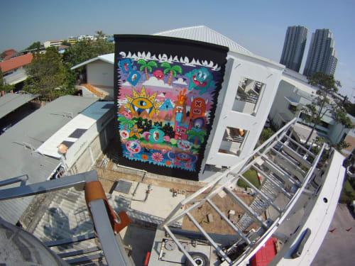 Banglamung Hospital wall | Street Murals by Ox-Alien