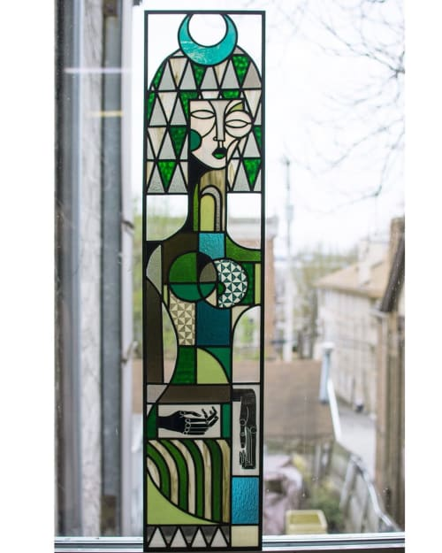 Art & Wall Decor by Expanded Eye seen at Private Residence, Pittsburgh - Stained Glass Window