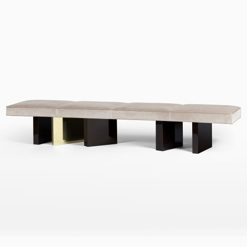 Benches & Ottomans by Chai Ming Studios seen at Atelier Gary Lee, Chicago - Campbell Bench
