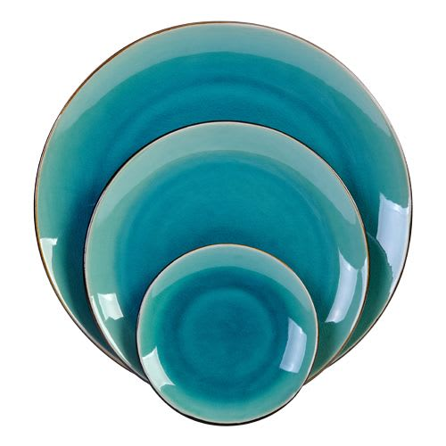 Ceramic Plates by Mieke Cuppen seen at Private Residence, Meerlo - Gastro Plate Seablue 20 cm