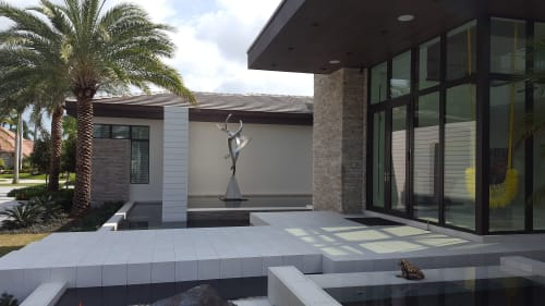 Sculptures by Bruce A. Niemi seen at Private Residence, Boca Raton - Power of Three I