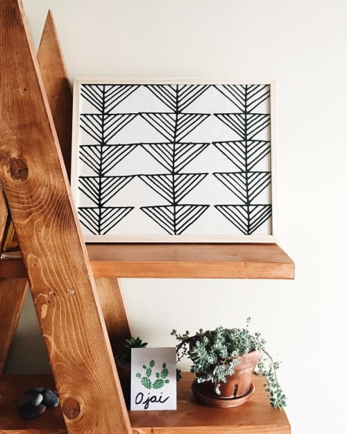 Arrows | Framed Textile | Wall Hangings by Little Korboose