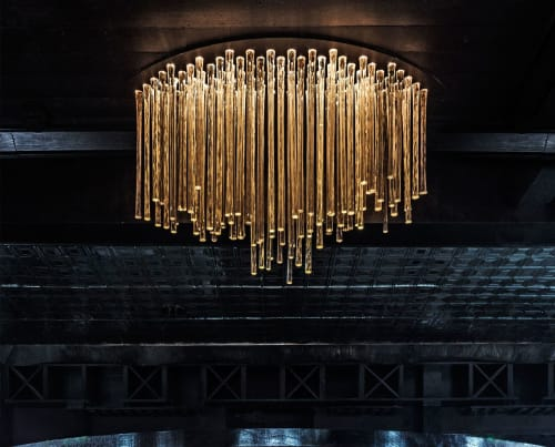 Chandeliers by Carlyn Ray Designs seen at Bowen House, Dallas - Bowen House Chandellier