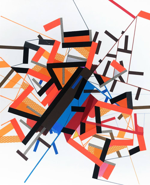 Paintings by Philippe Halaburda seen at Brooklyn, Brooklyn - An Ungkii topo AB
