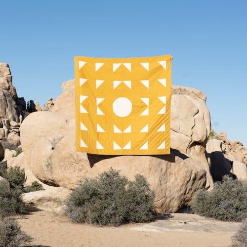 Yellow geometric quilt