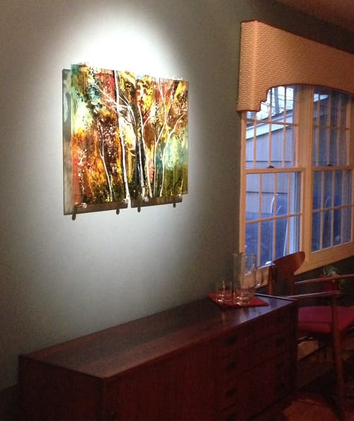 Art & Wall Decor by Alice Benvie Gebhart seen at Private Residence, Provincetown, MA, Provincetown - Autumn Song in Kilnformed Glass