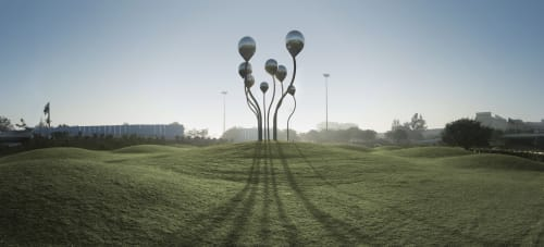 Public Sculptures by Vibhor Sogani seen at All India Institute Of Medical Sciences, New Delhi, New Delhi - Sprouts