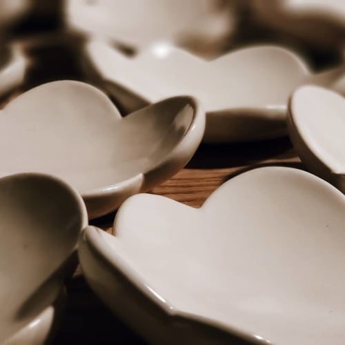 Ceramic Plates by JD Wolfe Pottery seen at Driftless Cafe, Viroqua - Little cloud dishes