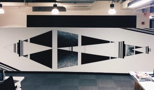 Murals by LAMKAT seen at Shepardson Stern & Kaminsky, New York - FiDi Interior