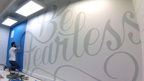 Murals by Adam Vicarel seen at Spin Creative Studio, Denver - Be Fearless Mural