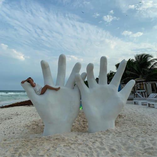 Public Sculptures by Yvette Vexta seen at Playa Mambo - Cabanas in Tulum, Tulum - Bloom