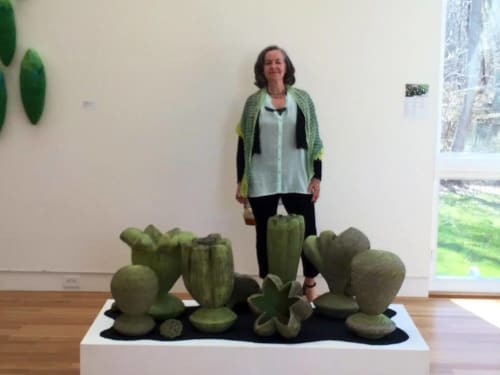 Sculptures by Leslie Ferst seen at Dedee Shattuck Gallery, Westport - Moving Toward Light Series