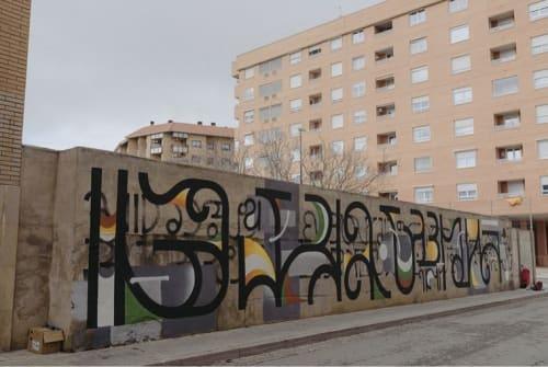 Street Murals by Jesus Moreno Yes seen at Avenida de San José, Zaragoza - GALERÍA URBANA ZGZ Mural