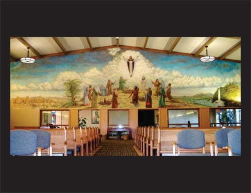Murals by Jose Solis Creative Art Services seen at Ascension Catholic Church, Portland - Ascension mural
