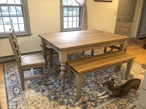 Tables by Lighthouse Woodworks seen at Private Residence, Salem - Table Set