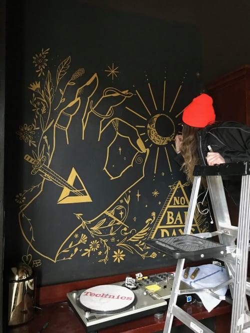 Murals by Wide Eyed seen at Gold Bar, Seattle - Gold Bar Mural