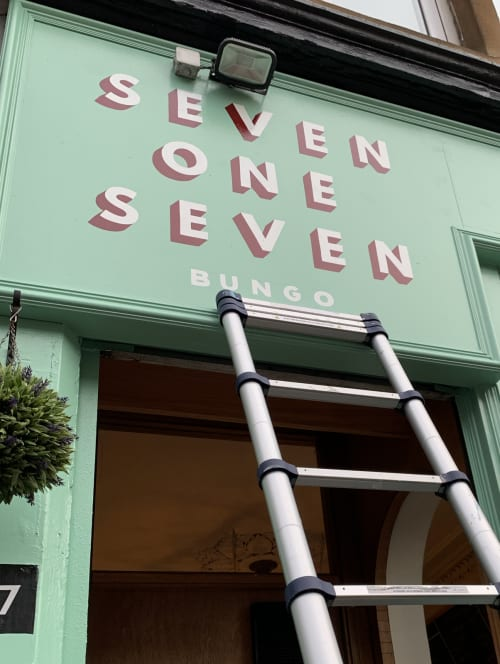 Seven One Seven   Signage by Rachel E Millar   Seven One Seven in Glasgow