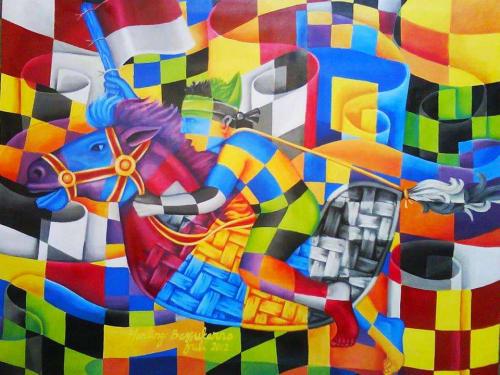 Paintings by Muralist Indonesia seen at Creator's Studio, Jakarta - Indonesian Modern Artist   Harling Bassukarno