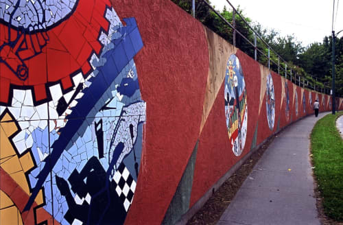 Street Murals by Richard Tetrault-artist seen at Victoria Drive, Vancouver - Community Walls/Community Voices