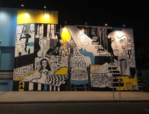 "Street Murals by James Peter Henry seen at Tableart Inc, Los Angeles - ""Romans 12:2 Mural"""