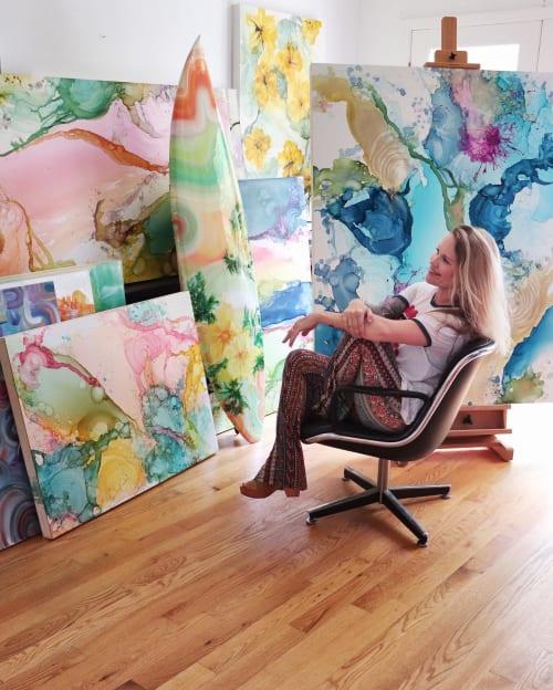 Paintings by Amanda M Moody seen at Creator's Studio, Matthews - jawbreaker - original