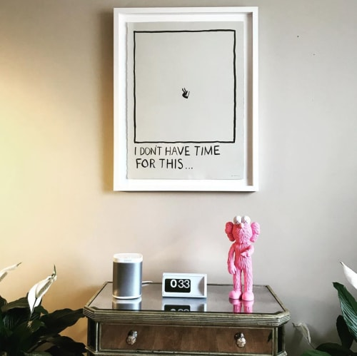 "Paintings by RF. Alvarez at Private Residence, Los Angeles - ""I Don't Have Time For This…"""