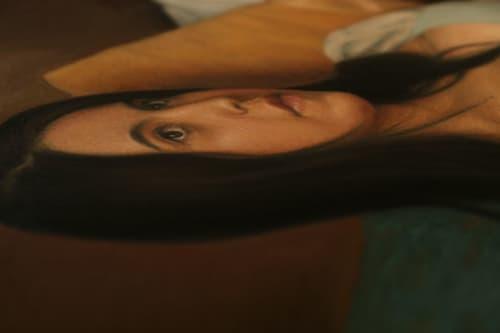 Paintings by Abraham Burciaga seen at Creator's Studio, Torreón - Maryam