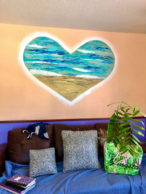 Murals by Anastasia (Vivantdesign) seen at Private Residence, Myrtle Beach - LOVE SEA