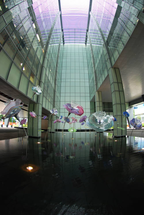"Public Sculptures by Art Glass Solutions seen at Private Residence, Singapura - ""Enchanting..."""