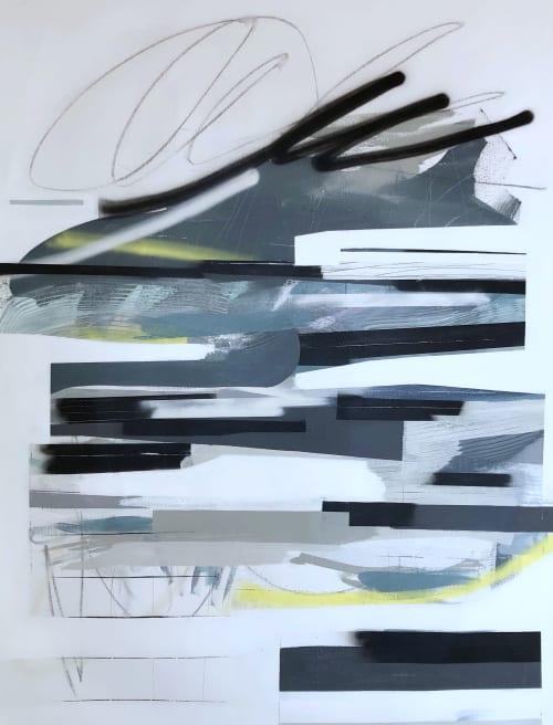 Paintings by Zandra Stratford Studio seen at Creator's Studio, Menlo Park - Less Yacht Rock, More New Wave