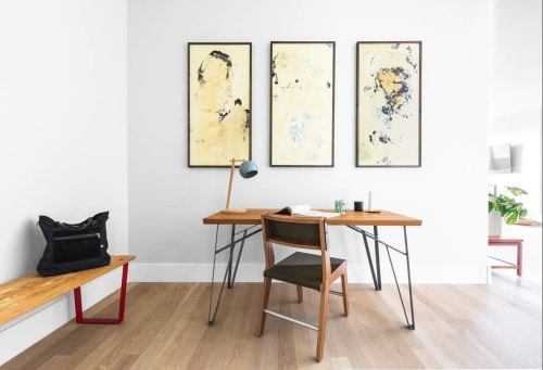 Paintings by Drew Austin seen at Private Residence, Denver - Our Own Impression - Triptych