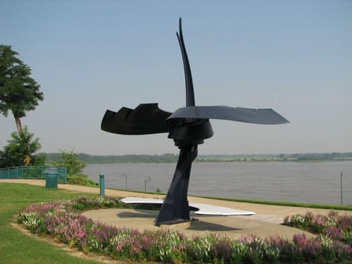 Public Sculptures by Medwedeff Forge and Design seen at Memphis, Memphis - Whirl
