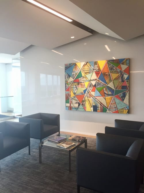 """Paintings by Brad Ellis - Artist seen at Private Residence, Atlanta - Commissioned painting: """"Glass House"""""""