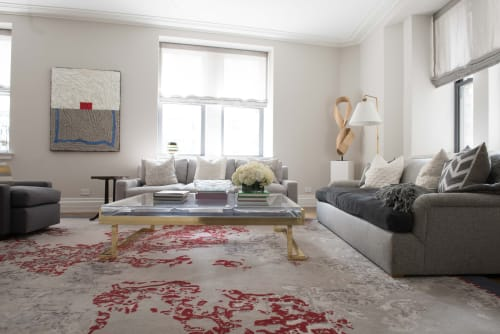 Rugs by Malene B Atelier seen at Astor Court Building, New York - Custom rug