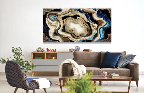 Paintings by Leda Daniel Art Studio seen at Private Residence, Auckland - Oasis