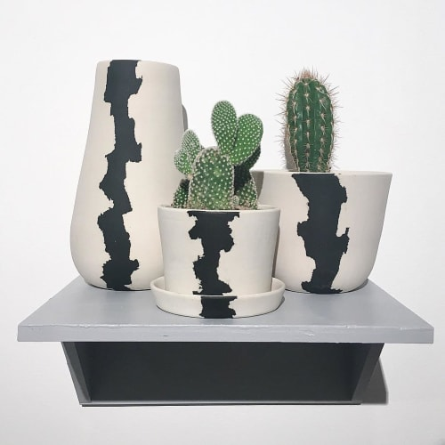 Vases & Vessels by btw Ceramics seen at Private Residence - Long Beach, CA, Long Beach - Mini Crater Planter
