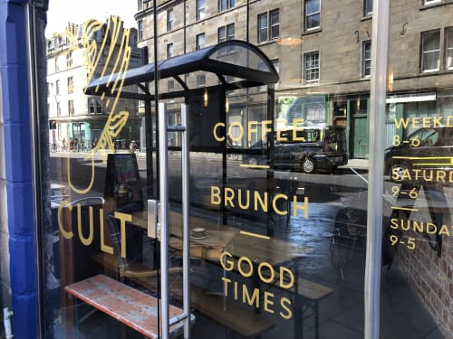 Signage by Rachel E Millar seen at Edinburgh, Edinburgh - CULT Coffee Signwriting