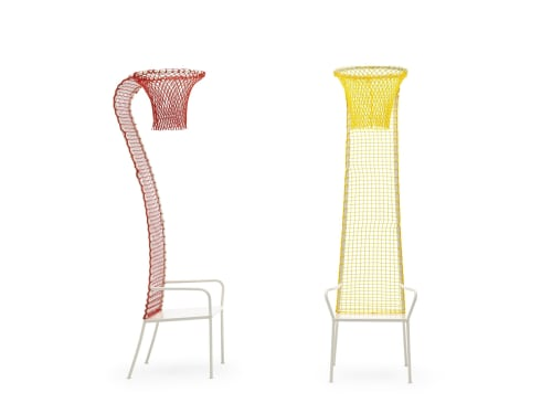 Chairs by Emanuele Magini seen at Private Residence, Milan - lazy basketball chair
