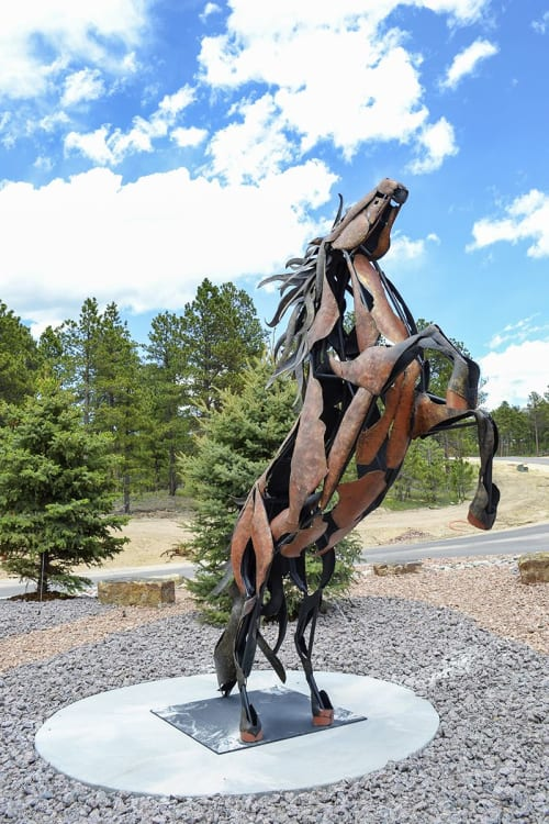Public Sculptures by Bliss Studio & Gallery, Jodie Bliss seen at Colorado Springs, Colorado Springs - Flying Horse