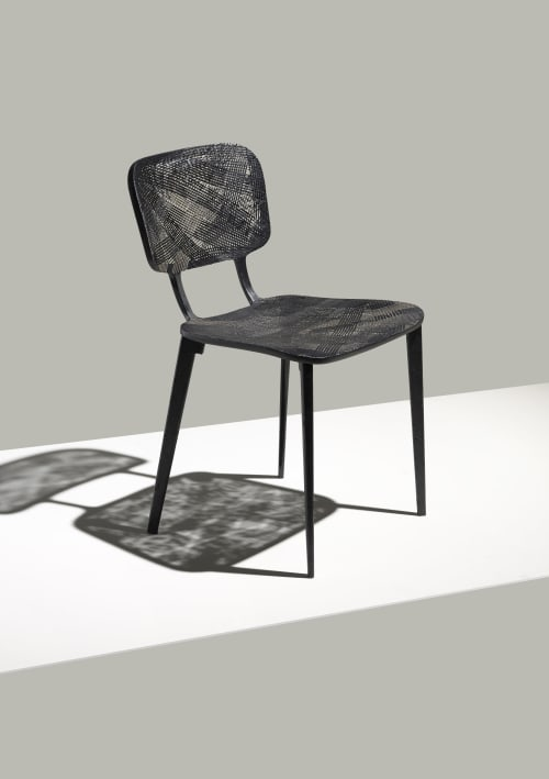 Chairs by LABEL / BREED seen at LABEL / BREED Studio, Amsterdam - Recycled Carbon Chair