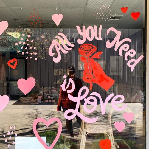 Murals by Art by Elowyn seen at Happy House, Fresno - Glass Window Art
